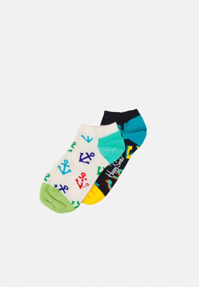 BIG ANCHOR LOW SOCK/ANCHOR LOW SOCK UNISEX 2 PACK - Calze - multi
