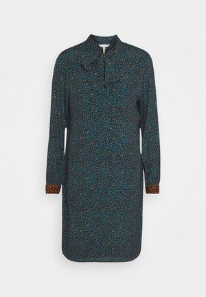 DRESS LEOPARD CUFF LEAF PRINT - Day dress - teal