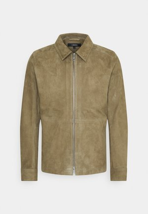 JONAH - Leather jacket - lake green