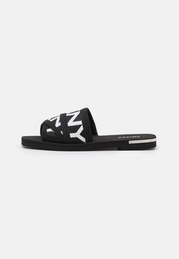 LOGO SLIDE  - Mules - black/white