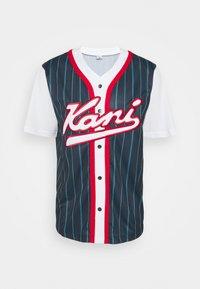Karl Kani - VARSITY BLOCK PINSTRIPE BASEBALL SHIRT - T-shirt med print - navy - 4