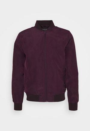CORE MILITARY - Bomber Jacket - burgundy