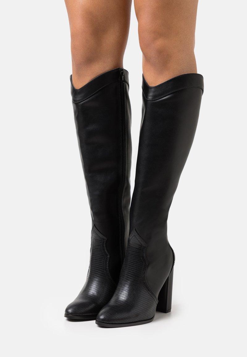 Wallis - PUDDING - High heeled boots - black