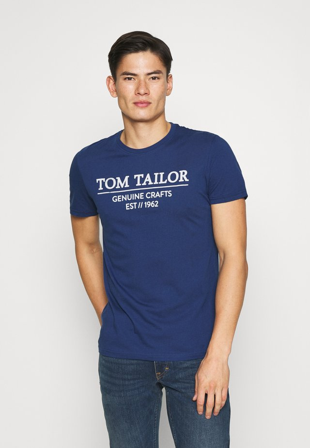 WITH PRINT - Print T-shirt - after dark blue