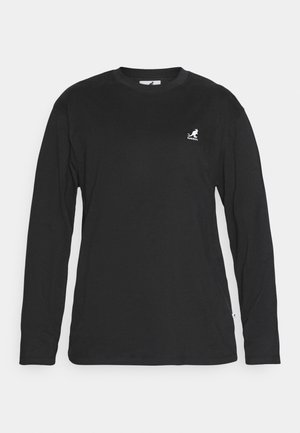 HARLEM LONG SLEEVE TEE - Bluzka z długim rękawem - black