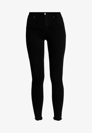 ONLBLUSH MID RAW - Jeans Skinny Fit - black denim