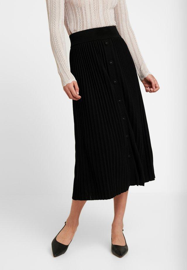 MOLLY PLEATED SKIRT - A-line skirt - black