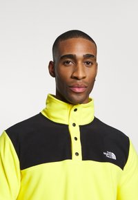 The North Face - MENS GLACIER SNAP NECK - Sweat polaire - lemon/black - 3