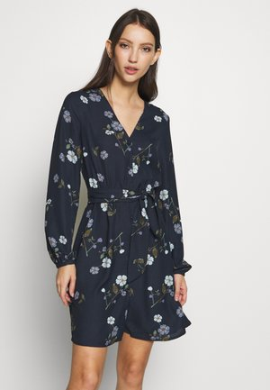 VMFALLIE TIE DRESS - Day dress - navy blazer