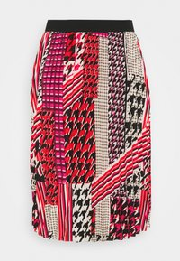 CAPSULE by Simply Be - PRINT PLEAT MIDI SKIRT - Pleated skirt - pink/black - 3