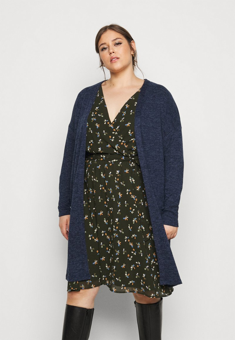 Evans - SOFT TOUCH CARDIGAN - Cardigan - blue
