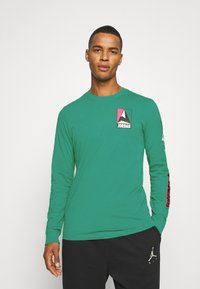 Jordan - MOUNTAINSIDE CREW - Long sleeved top - neptune green - 0