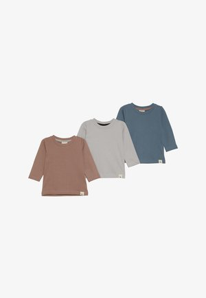 LAYERING BABY 3 PACK - Long sleeved top - grey/brick/denim