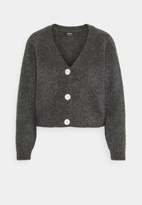 ONLY - ONLELINOR CARDIGAN - Cardigan - dark grey melange - 0