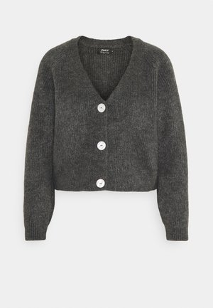 ONLELINOR CARDIGAN - Strickjacke - dark grey melange