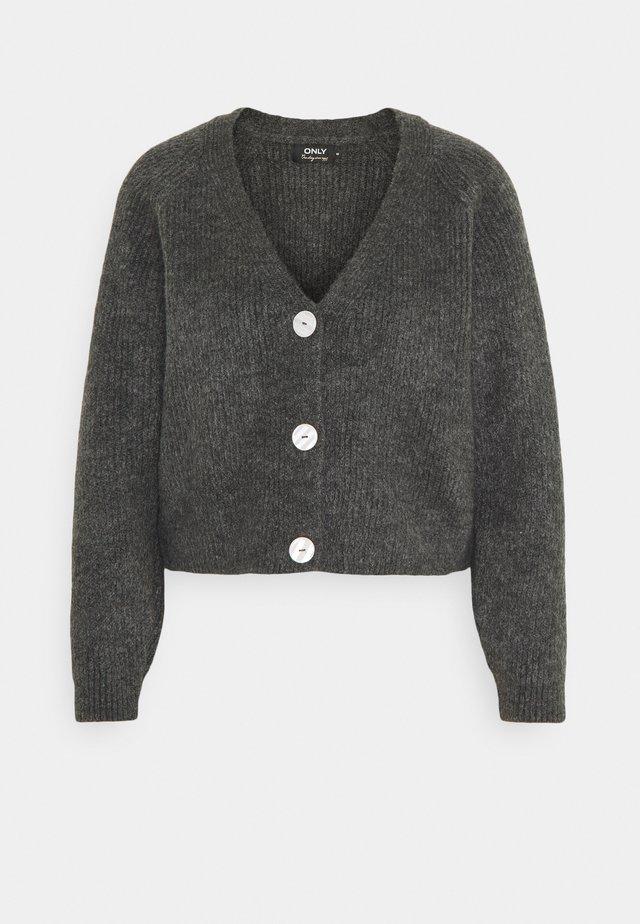 ONLELINOR CARDIGAN - Vest - dark grey melange