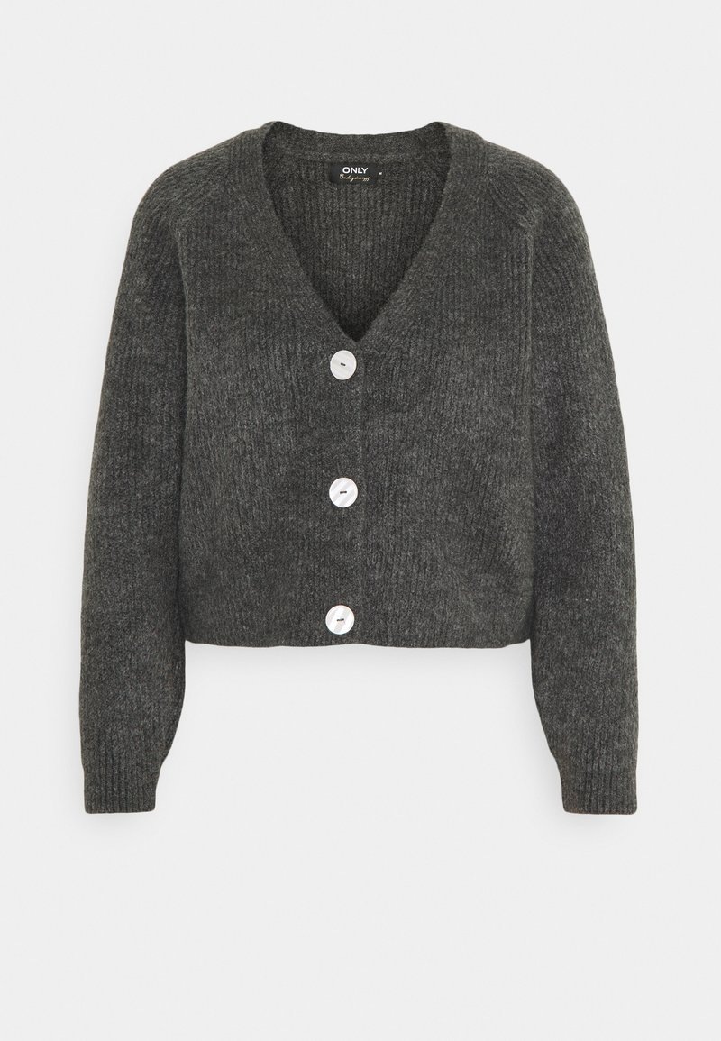 ONLY - ONLELINOR CARDIGAN - Cardigan - dark grey melange