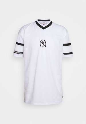 MLB NEW YORK YANKEES OVERSIZED MESH TEE - Klubbkläder - white