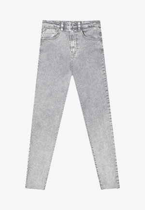 MIT SUPERHOHEM BUND  - Jeansy Skinny Fit - light grey
