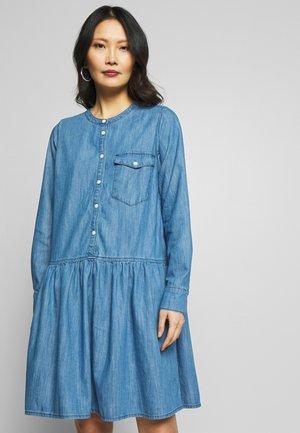 BEATA - Denim dress - light blue denim