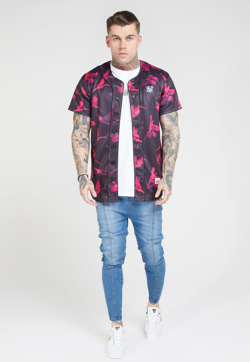 SIKSILK - PLEATED  - Vaqueros pitillo - blue