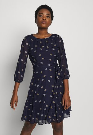 BILLIE & BLOSSOM SLEEVE TEAPOT DRESS - Day dress - navy