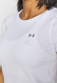 Under Armour - T-shirt basique - white/metallic silver - 4