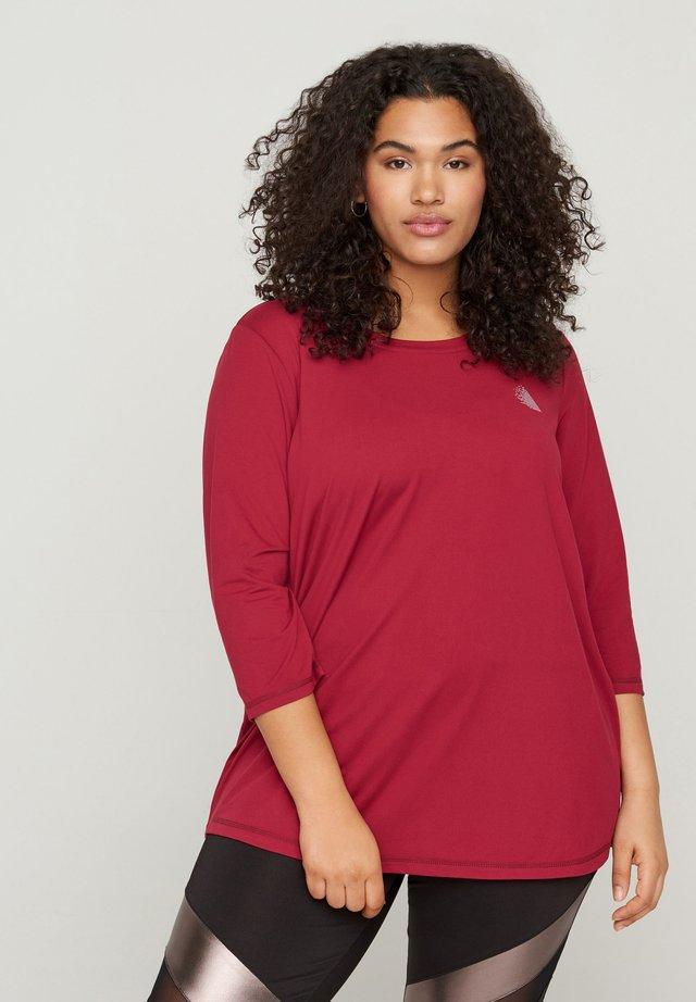 MIT 3/4-ÄRMELN - T-shirt à manches longues - beet red