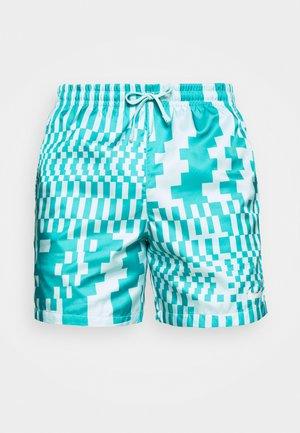 ZIGZAG FLOW - Shorts - aquamarine