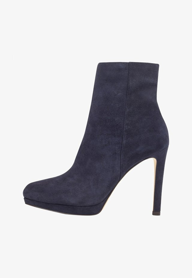 QUANETTE - Bottines à talons hauts - french navy