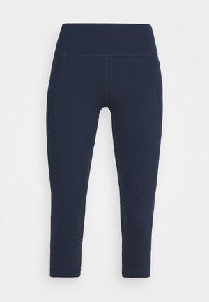 POWER CROP WORKOUT LEGGINGS - Leggings - navy blue