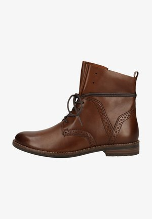 Lace-up ankle boots - chestnut antic 300