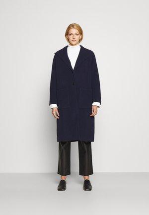 HOODED COAT - Klassinen takki - navy