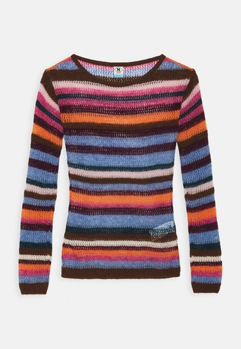 LONG SLEEVE CREW NECK - Jumper - multicolor
