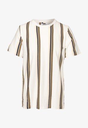 LUKE STRIPE - T-shirts print - white