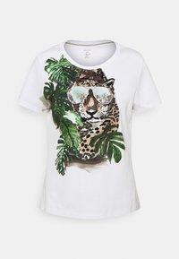 Marc Cain - Print T-shirt - khaki - 4