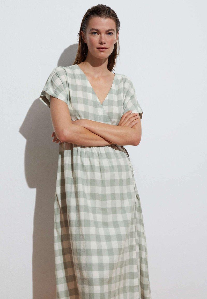 OYSHO - VICHY - Jumper dress - light green