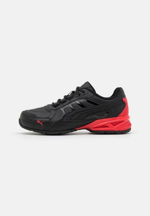 RESPIN UNISEX - Neutral running shoes - black/high risk red
