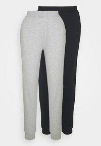 2er PACK - Basic regular fit joggers - Trainingsbroek - black/light grey