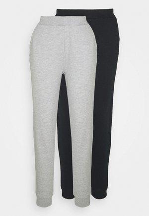 2 PACK - Tracksuit bottoms - black/light grey