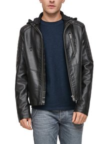 Q/S designed by - Faux leather jacket - black - 6