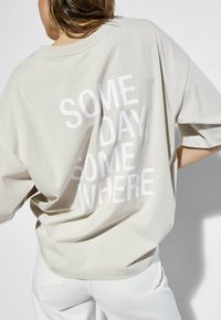 Massimo Dutti - T-shirt imprimé - beige - 2