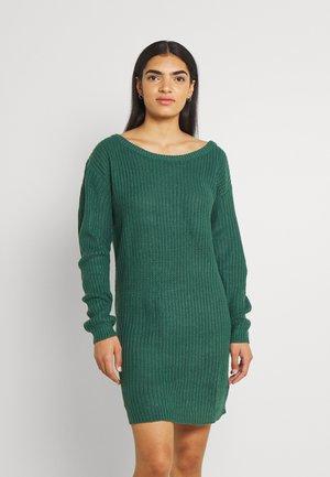 AYVAN OFF SHOULDER JUMPER DRESS - Neulemekko - dark green