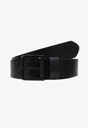 ALLOVER LOGO BELT - Pásek - black