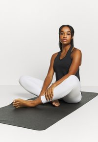 Nike Performance - YOGA CORE COLLECTION TANK - Sports shirt - black/smoke grey - 1