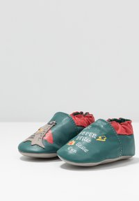 Robeez - SUPER DINO - First shoes - vert/fonce/rouge - 3