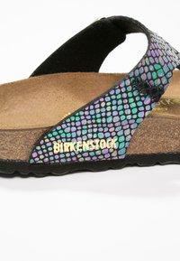 Birkenstock - GIZEH - T-bar sandals - black/multicolor - 6