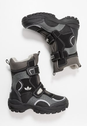 SAMUEL - Winter boots - schwarz/grau