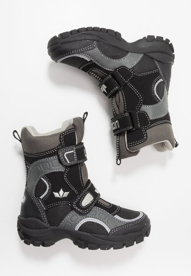 SAMUEL - Snowboots  - schwarz/grau