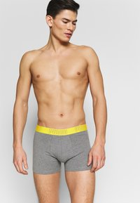 Puma - BOLD STRIPE BOXER 2 PACK - Panties - yellow/grey melange - 1